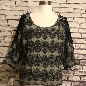 Wet Seal Lace Accent Top